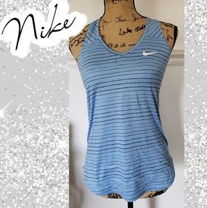Nike racerback sz small blue white work out exerci